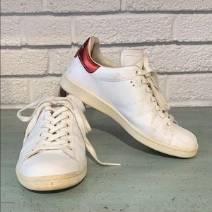 Isabel Marant White Sneaker with Red Metallic